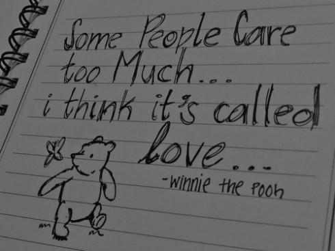pooh bear on love..